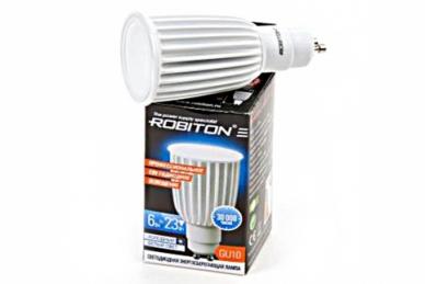 Лампа светодиодная LED PAR16-6W-4200K-GU10, Robiton