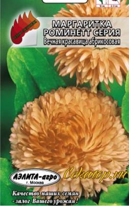 "Семена цветов - Маргаритка сорт ""Вечная красавица абрикос"""