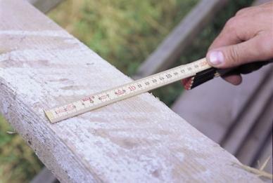 Метр складной пластиковый 2 м HK 2/10G Sola. Замер горизонтальный