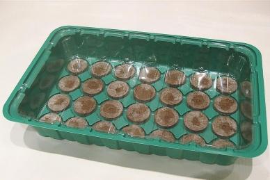 Удобная мини-теплица с торфяными таблетками Jiffy, 41 мм/28 ячеек