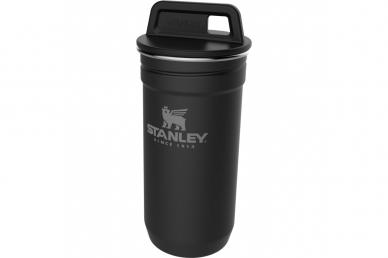 Набор Adventure Matte Black 4 стопки и стакан Stanley
