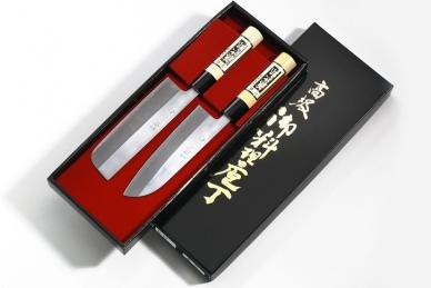 Набор из 2-х кухонных ножей Giftset, Tojiro в подарочной упаковке