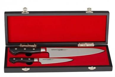Набор из 2 ножей в подарочной коробке PRO-S SP-0210/G-10 Samura, Япония