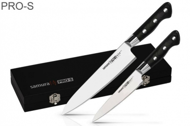 2 ножа в подарочной коробке PRO-S SP-0210/G-10 Samura