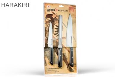 """Набор из 3 кухонных ножей """"Samura Harakiri"""" SHR-0230B в упаковке"""