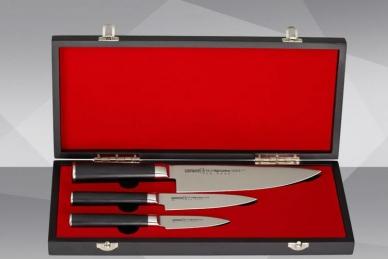 """Набор из 3 ножей """"Поварская тройка"""" MO-V SM-0220/G-10 Samura"""