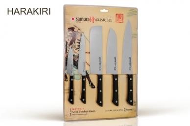 """Набор из 5 кухонных ножей """"Samura Harakiri"""" SHR-0250B"""