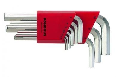 Набор метрических шестигранных ключей из 9 шт. (1.5-10 мм) Bondhus