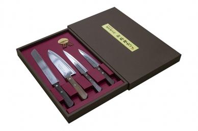 Подарочный набор ножей Tomoko Naturalwood из 4 шт. Satake