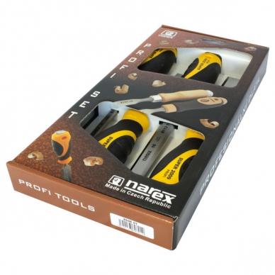 Набор плоских ударных стамесок из 4 штук (8, 10, 16, 32 мм) SUPER 2009 Narex, Че