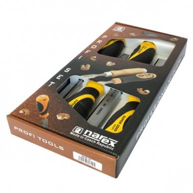 Набор плоских ударных стамесок из 4 штук (6, 12, 20, 26 мм) SUPER 2009 Narex, Че