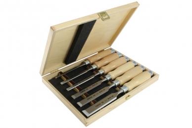 Набор плоских ударных стамесок Wood Line Profi (6, 10, 12, 16, 20, 26 мм) Narex