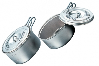 Набор титановой посуды 0,9 л + 1,3 л Ultra-Light ECA260 Evernew