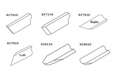Профиль резцов в наборе Narex 859503