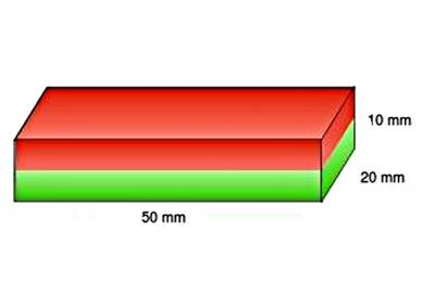 Магнит неодимовый прямоугольный для точилок Ganzo и Apex, параметры