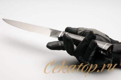 Нож Camp Knife 2008 (рог буйвола) Citadel, хват снизу