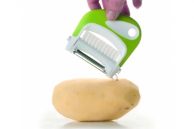Нож для чистки овощей со щеткой от TimA