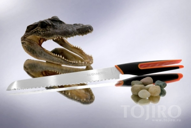 Нож для хлеба U-Flex 206 мм Hatamoto HF206BO