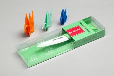 Нож Samura Fusion SF-0010 Green для чистки овощей керамический