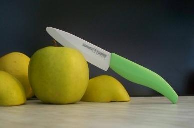 Нож Samura Fusion SF-0010 Green керамический для чистки овощей