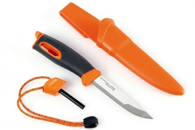Нож для выживания с огнивом Swedish FireKnife (оранжевый), Light my Fire, Швеция