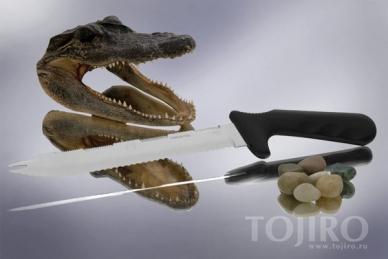 Нож для замороженной пищи и костей T-REX 200 мм Hatamoto 1108