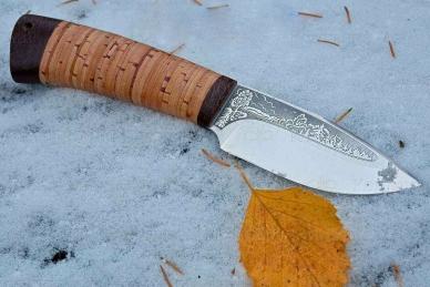 """Нож """"Добрый"""" 95Х18 (наборная береста) АиР (Златоуст)"""