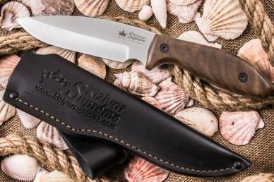 Нож Fortuna (AUS-8, Walnut) Kizlyar Supreme, ножны