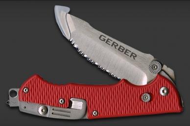 Складной нож Hinderer Rescue Knife Gerber, сложенный