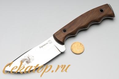 """Нож """"Караколь"""" (клинок с рисунком рыбы) Кизляр с монетой"""