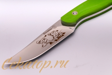 Нож «Касатка 2014 Бег на коньках» (зеленый) Кизляр