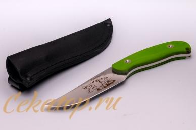 Нож «Касатка 2014 Бег на коньках» (зеленый) Кизляр, Россия