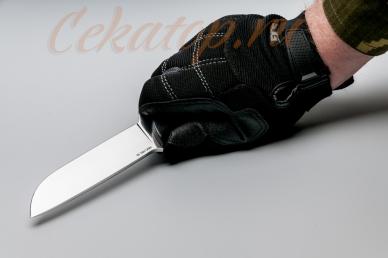 Нож Храбрый (сталь 440C) Лебежь, хват сверху