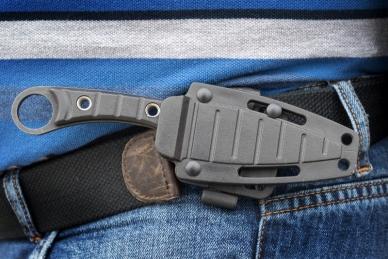 Нож разделочный Крот в ножнах, Кизляр