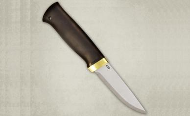 "Нож ""Кузюк"" 100Х13М (чёрный граб/латунь) АиР (Златоуст), Россия"