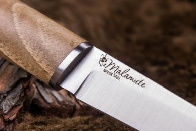 Нож Malamute (AUS-8, Walnut) Kizlyar Supreme, логотип