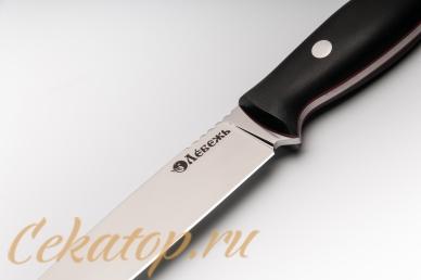 """Нож """"Отважный 1917"""" (сталь D2) Лебежь, логотип"""