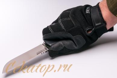 Нож «Отважный 1917» (сталь N690) Лебежь, хват сверху