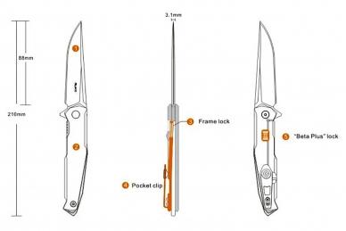 Нож P108-SF Ruike