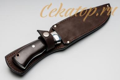 Нож Рекс (95Х18, полный хвостовик) Алексей Фурсач в ножнах