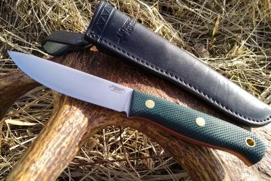 Нож Росомаха N690 (тёмно-зеленая микарта с оружейной насечкой) Южный Крест, Росс