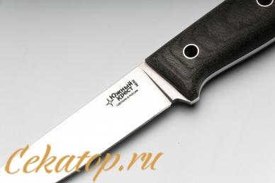 Нож Рыбацкий S (N690, серая микарта) Южный Крест, логотип