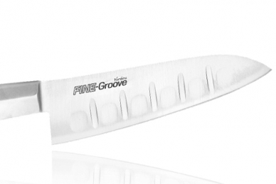 Удобный нож Шеф Narihira 180 мм (сталь Мо-V, рукоять сталь) FC-342 Tojiro