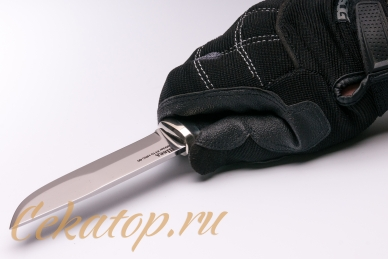 Нож «Швед» (сталь K110) Лебежь, хват сверху