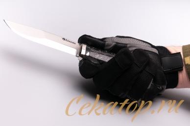 Нож «Швед» (сталь N690) Лебежь хват снизу
