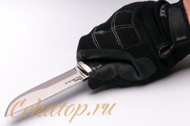 Нож «Швед» (сталь N690) Лебежь хват сверху