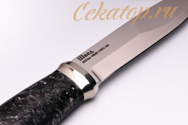 Нож «Швед» (сталь N690) Лебежь, логотип