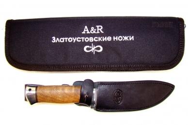 """Разделочный нож """"Скинер-2"""" (орех) АиР (Златоуст)"""