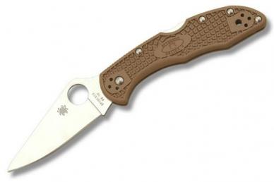 Складной нож Delica 4 Lightweights (VG-10, Brown FRN) Spyderco