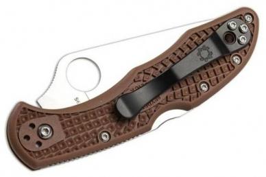 Складной нож Delica 4 Lightweights (VG-10, Brown FRN) Spyderco, сложен